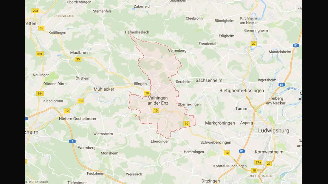 Karte Vaihingen a. d. E.