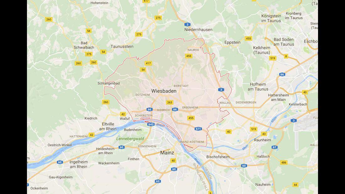 Karte Wiesbaden