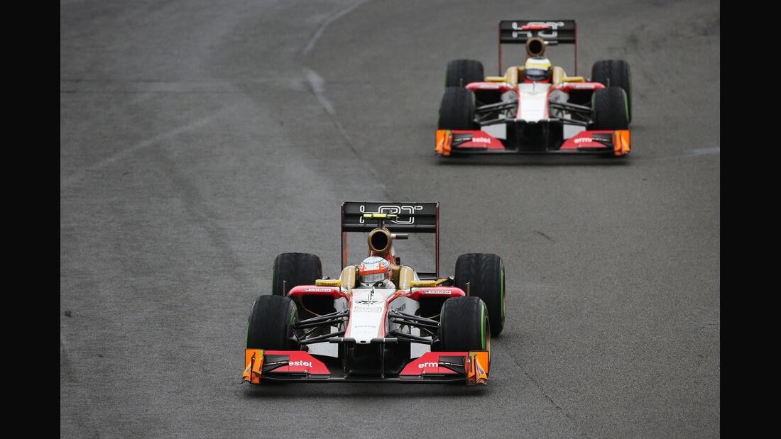 Karthikeyan De la Rosa HRT GP Brasilien 2012