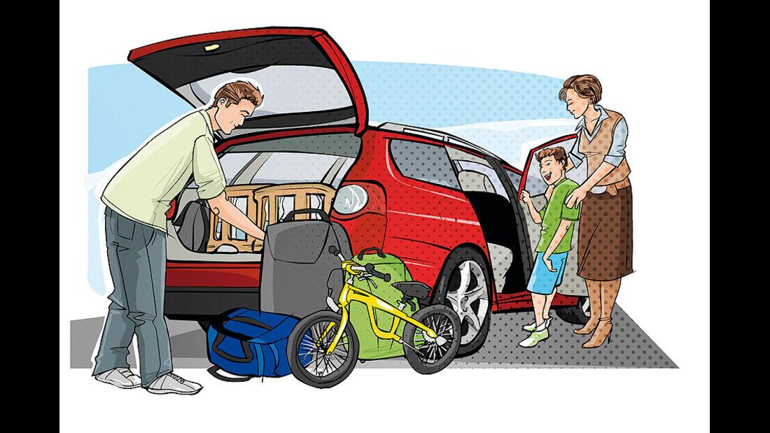 Kaufberatung Familienauto, Raumangebot