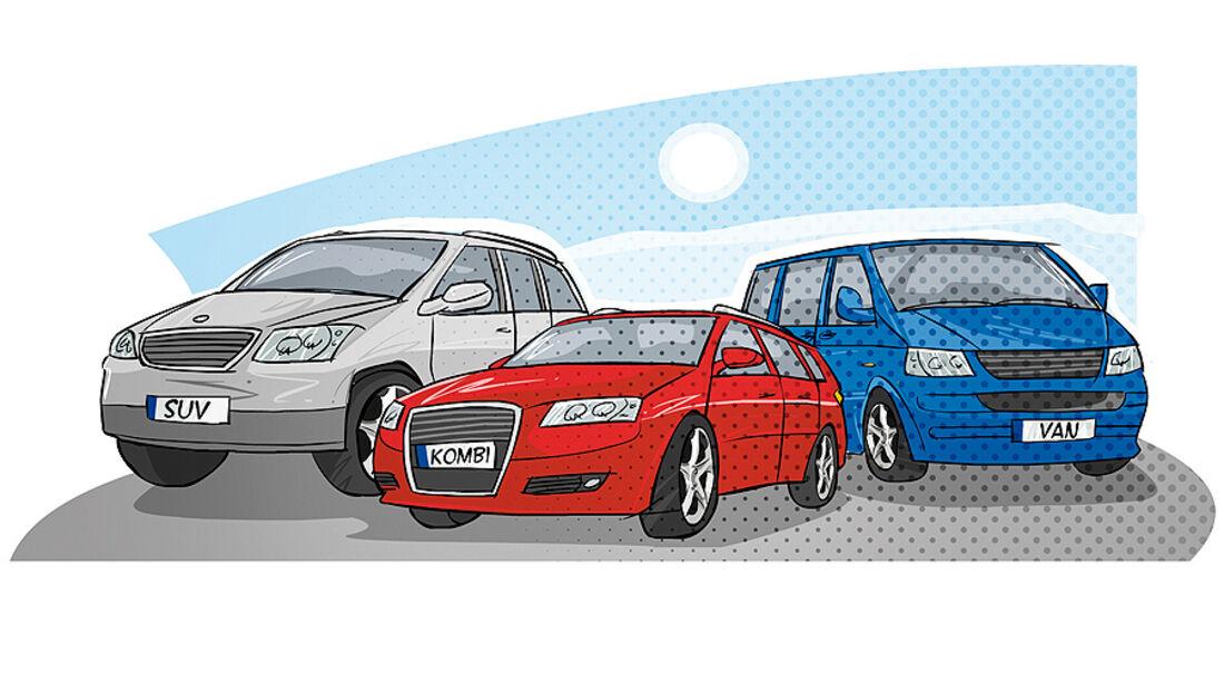 Familientaugliche Autos