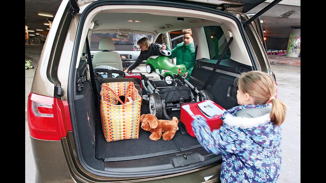 Kaufberatung Familienauto, umklappbare Sitze