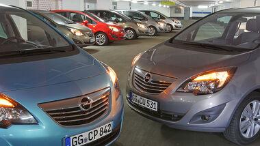 Kaufberatung Opel Meriva, alle Fahrzeugtypen