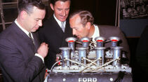 Keith Duckworth - Graham Hill - Colin Chapman - Ford Cosworth DFV - England 1967