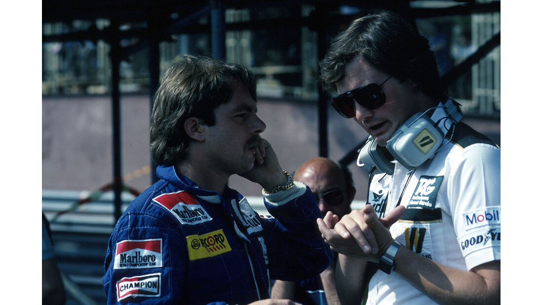 Keke Rosberg Frank Dernie 1982