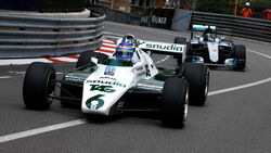 Keke Rosberg & Nico Rosberg - Williams FW08 & Mercedes W07 - Showrun - GP Monaco 2018