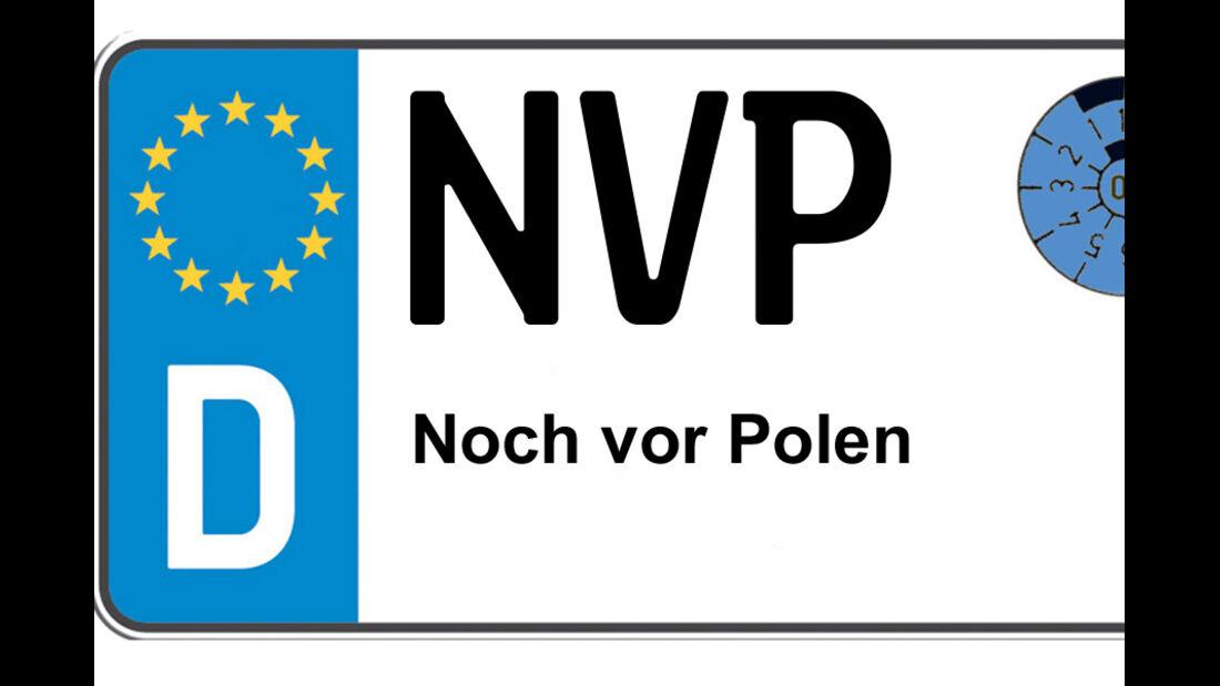 Kennzeichen-Bedeutung NVP Nordvorpommern