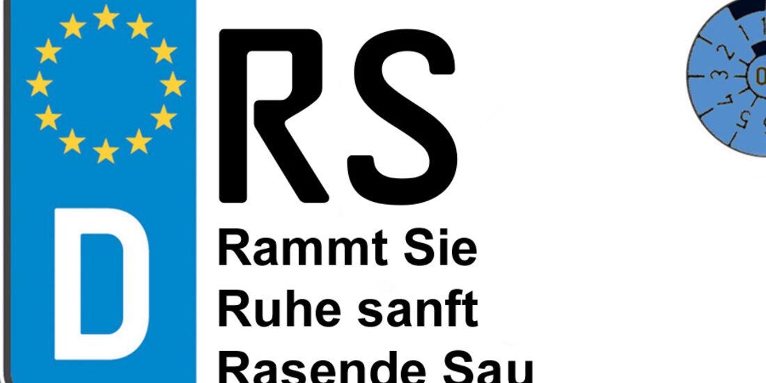 Kennzeichen-Bedeutung RS Remscheid