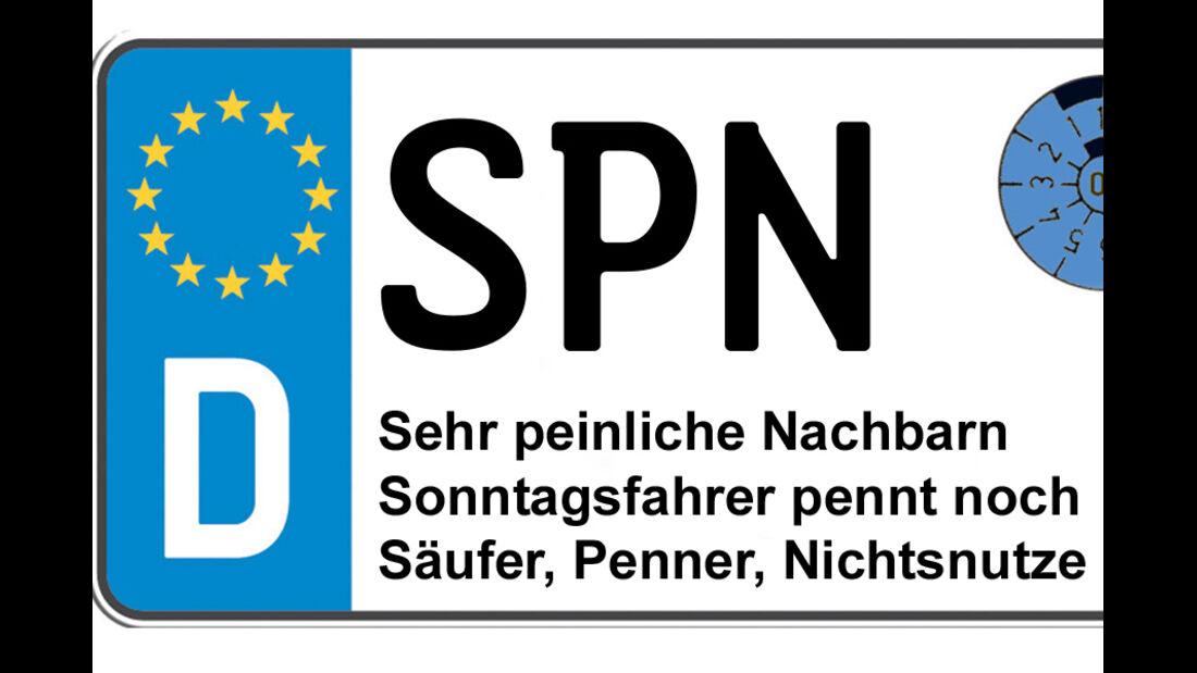 Kennzeichen-Bedeutung SPN Spree - Neiße