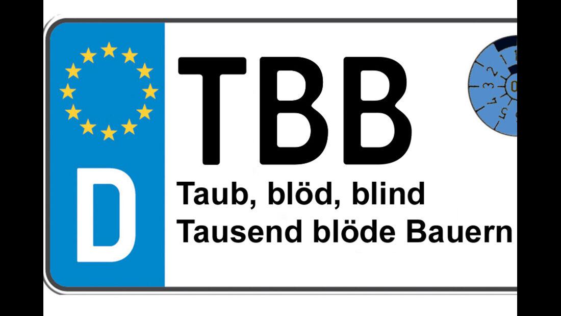 Kennzeichen-Bedeutung TBB Tauberbischofsheim
