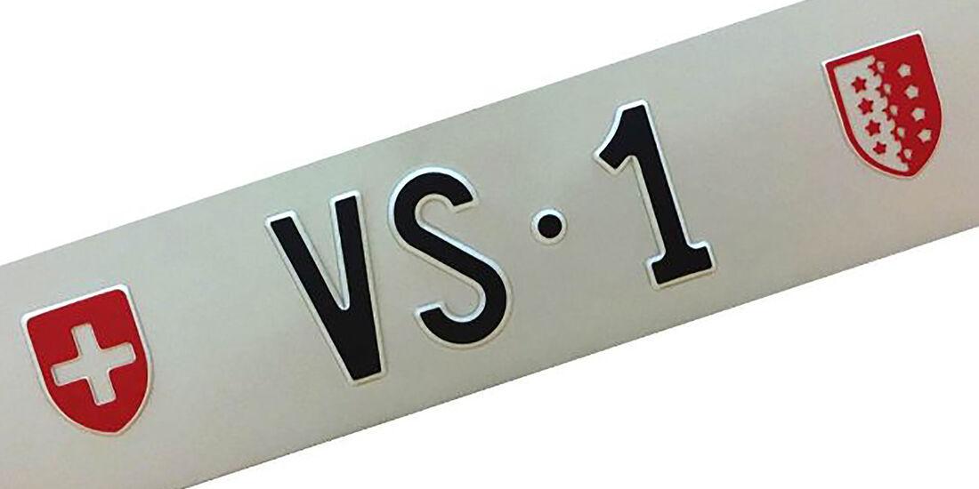 Kennzeichen Schweiz VS1