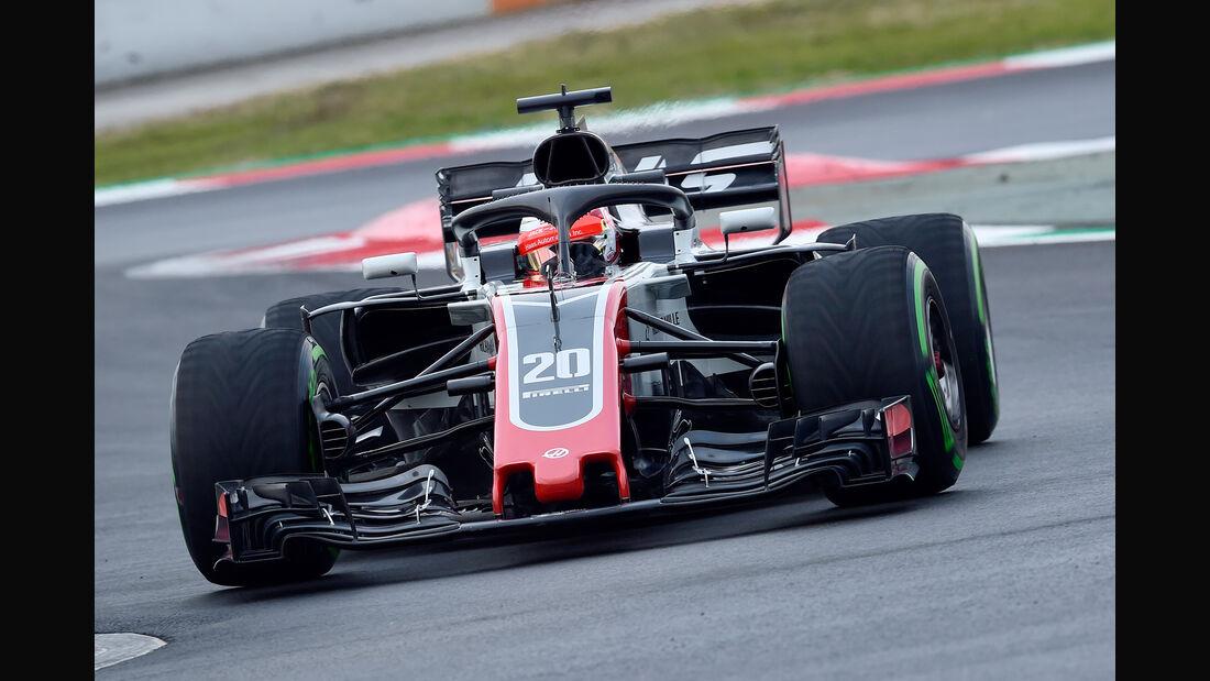 Kevin Magnussen - HaasF1 - F1-Test - Barcelona - Tag 2 - 27. Februar 2018