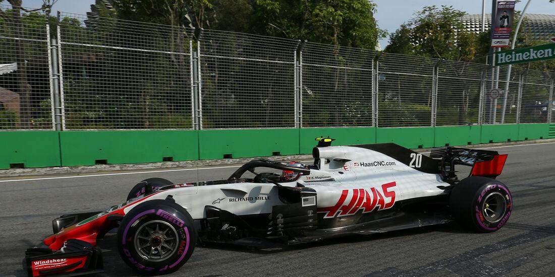 Kevin Magnussen - HaasF1 - Formel 1 - GP Singapur - 14. September 2018