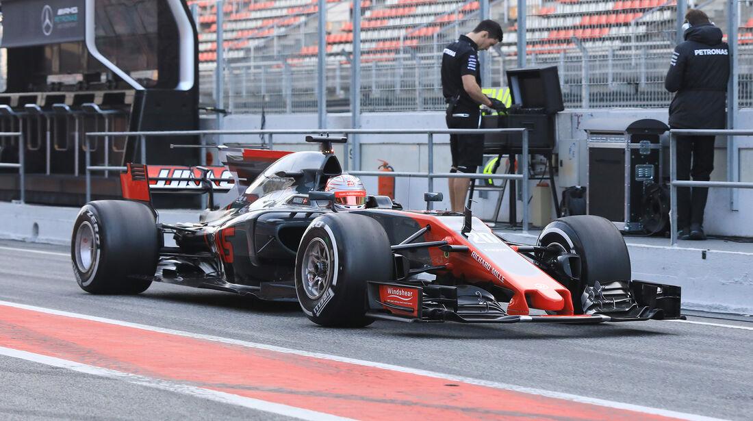 Kevin Magnussen - HaasF1 - Formel 1 - Test - Barcelona - 9. März 2017