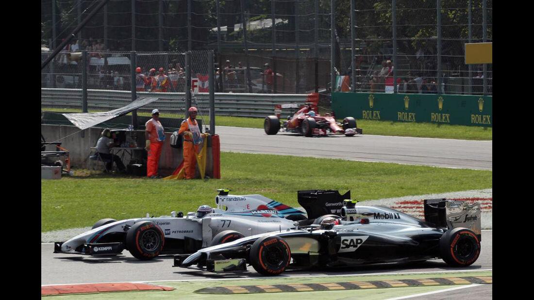 Kevin Magnussen - McLaren - Valtteri Bottas - Williams - Formel 1 - GP Italien - 7. September 2014