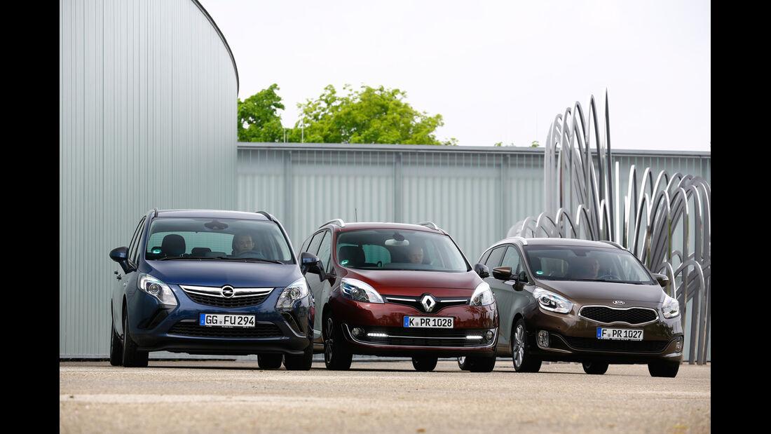 Kia Carens 1.7 CRDi, Opel Zafira Tourer 2.0 CDTi, Renault Grand Scénic dCi 130