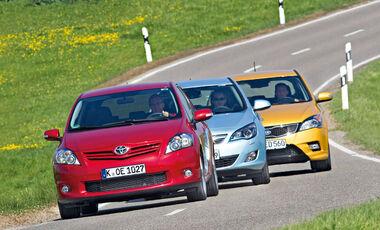Kia Cee´d, Opel Astra, Toyota Auris