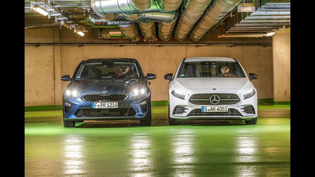 Kia Ceed 1.4 T-GDI DCT7, Mercedes A 200 7 G-DCT, Exterieur