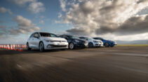 Kia Ceed 1.4 T-GDI GT Line, Opel Astra 1.4 DI Turbo Elegance, Renault Mégane Tce 140 Bose Edition, VW Golf 1.5 eTSI Style, Exterieur