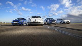 Kia Ceed 1.4 T-GDI GT Line, Opel Astra 1.4 DI Turbo Elegance, Renault Mégane Tce 140 Bose Edition, VW Golf 1.5 eTSI Style, Exterieur