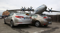 Kia Optima 1.7 CRDi Spirit, Renault Laguna Energy dCi 150, Heck