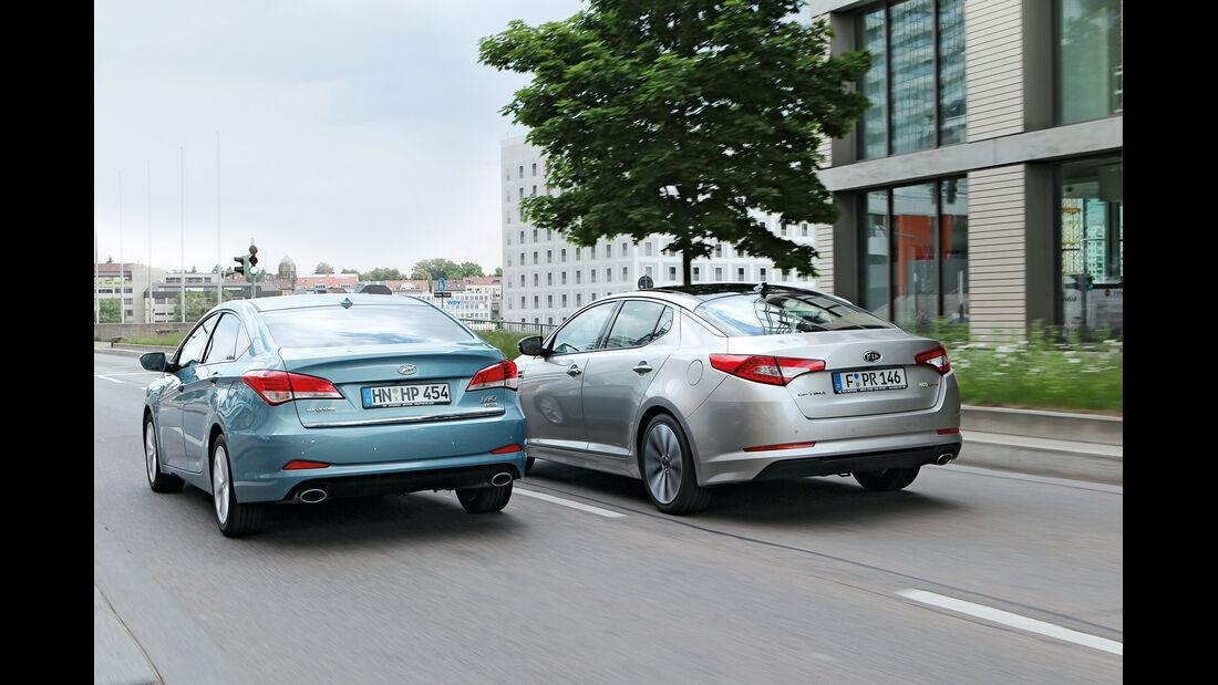 Kia Optima, Hyundai i40, Heck