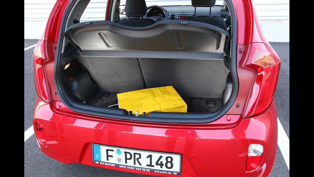 Kia Picanto 1.0, Kofferraum