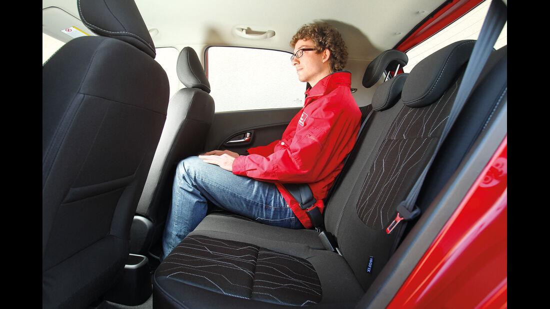 Kia Picanto 1.2, Rücksitz, Beinfreiheit
