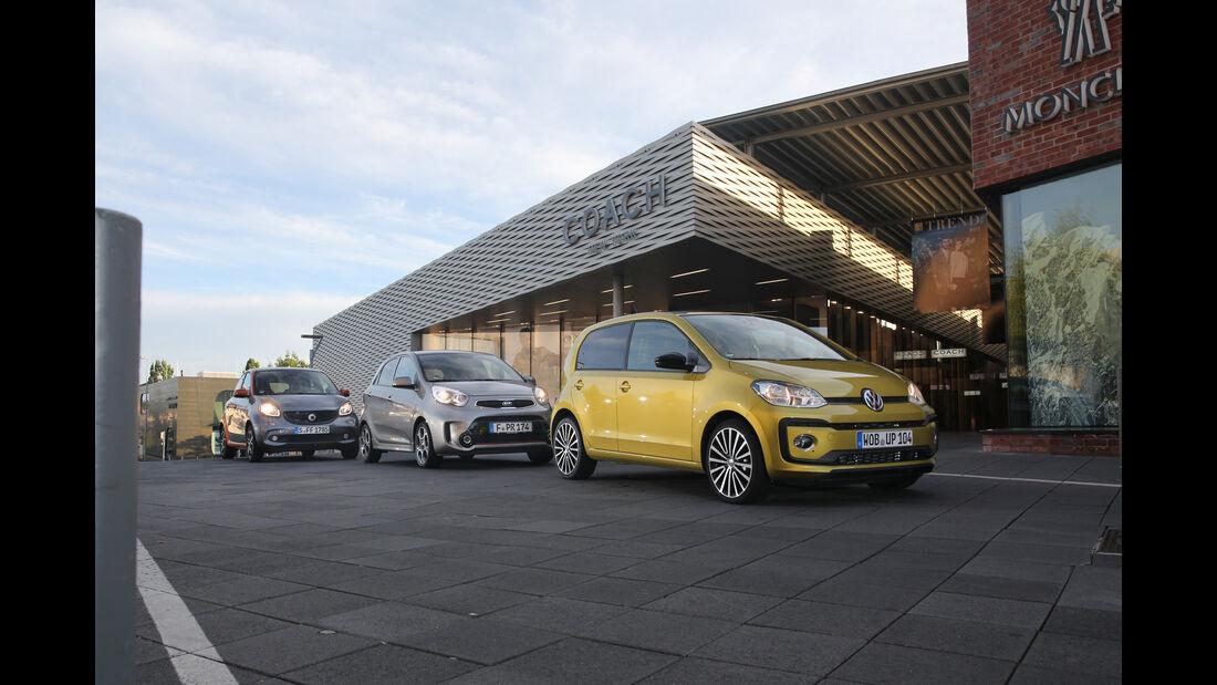 Kia Picanto 1.2, Smart Forfour 0.9, VW Up 1.0 TSI,