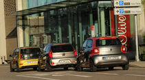 Kia Picanto 1.2, Smart Forfour 0.9, VW Up 1.0 TSI, Heckansicht