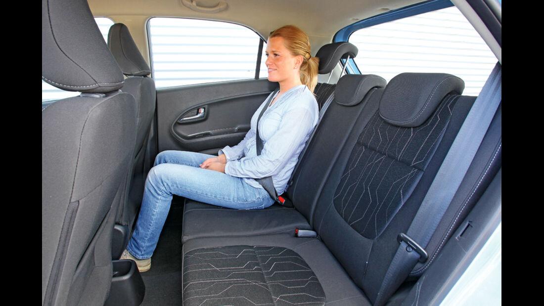 Kia Picanto ISG Spirit, Rückbank, Rücksitz