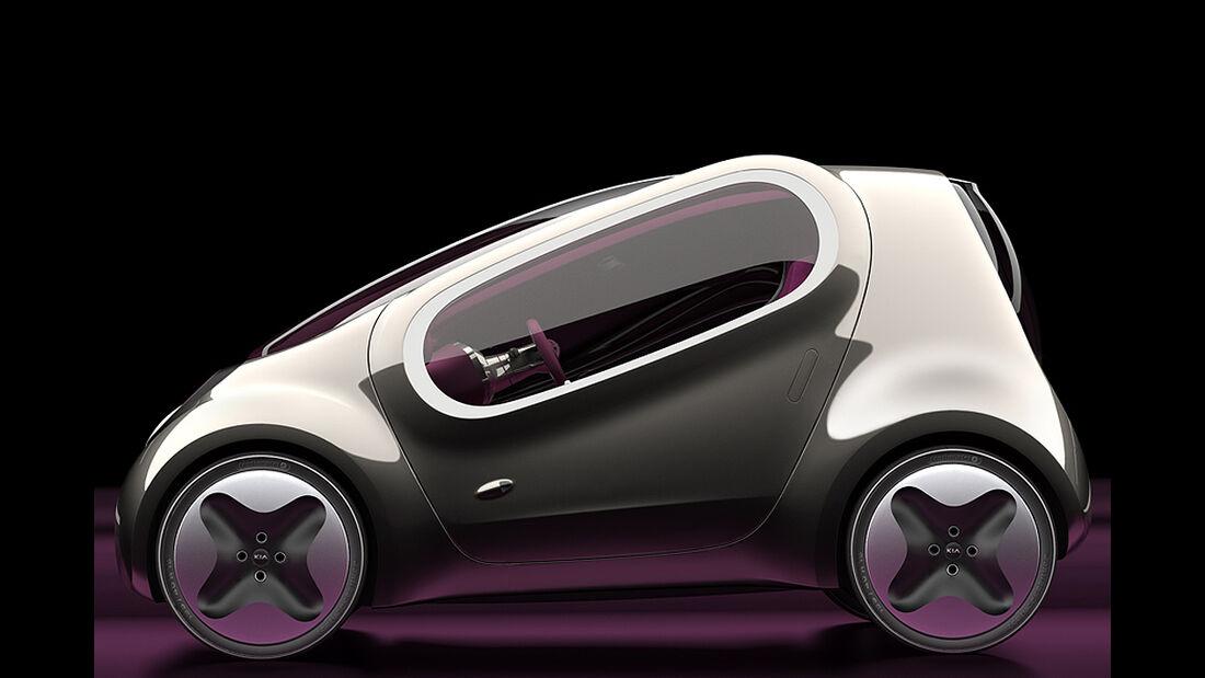 Kia Pop, Elektroauto, E-Auto-Studie, Paris