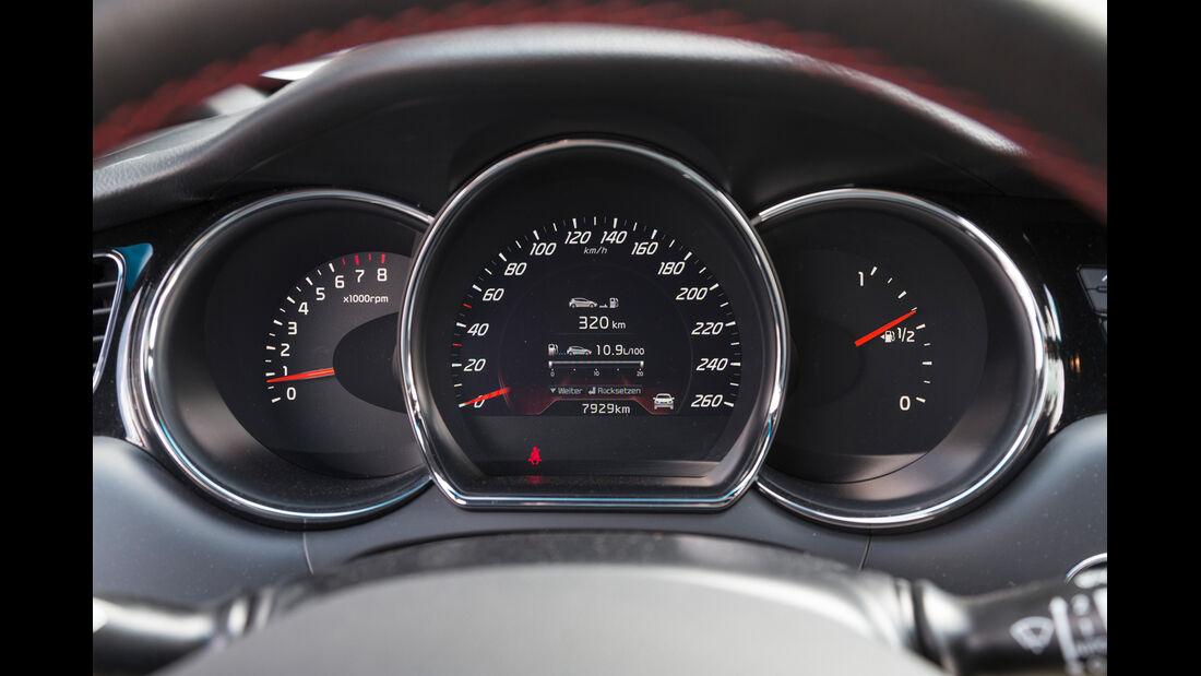 Kia Pro Cee'd GT Track, Rundinstrumente
