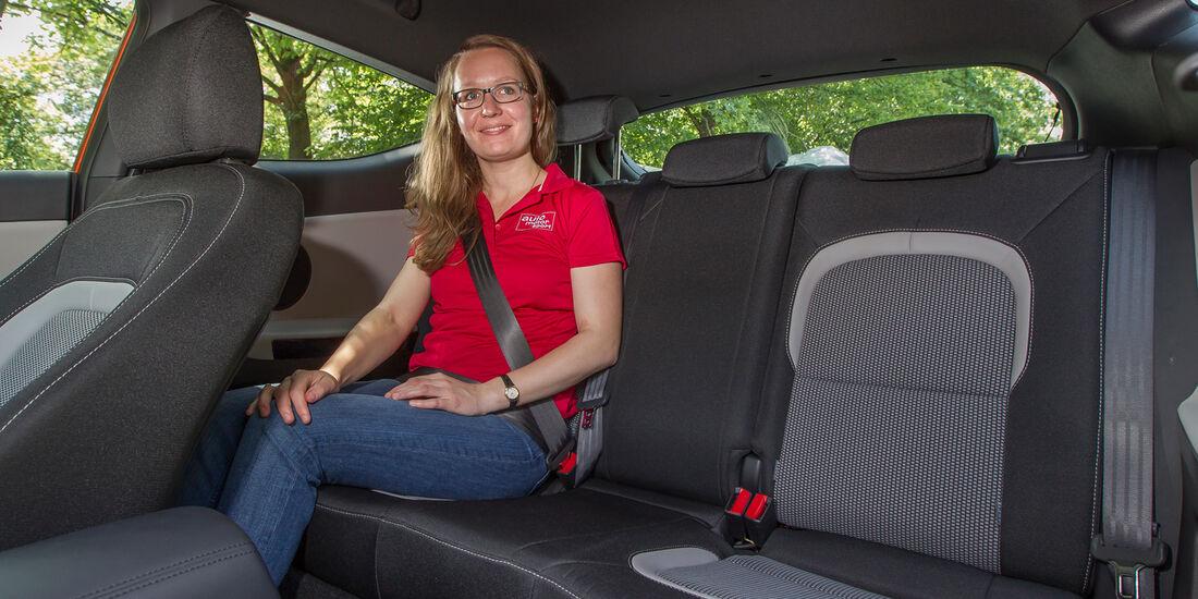 Kia Procee'd 1.6 GDI, Rücksitz, Beinfreiheit