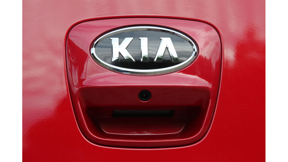 Kia Rio, Kofferraumhebel, Emblem