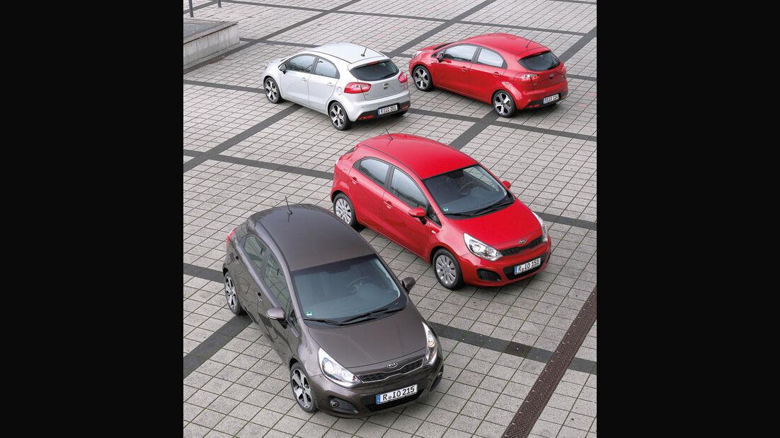 Kia Rio, Verschiedene Modelle