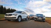 Kia Sorento 2.2 CRDi 4WD, Skoda Kodiaq 2.0 TDI 4x4, VW Tiguan 2.0 TDI 4Motion