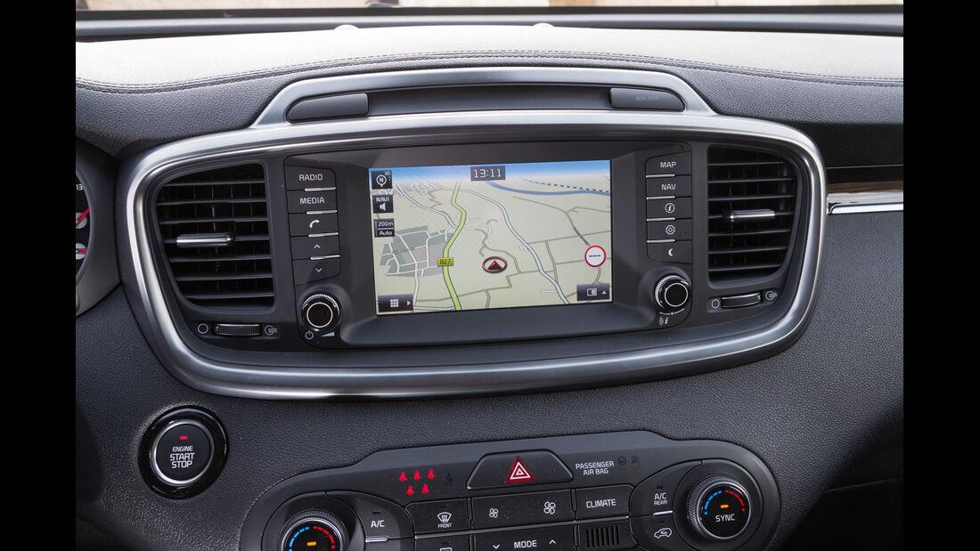 Kia Sorento 2.2 CRDi, Bildschirm