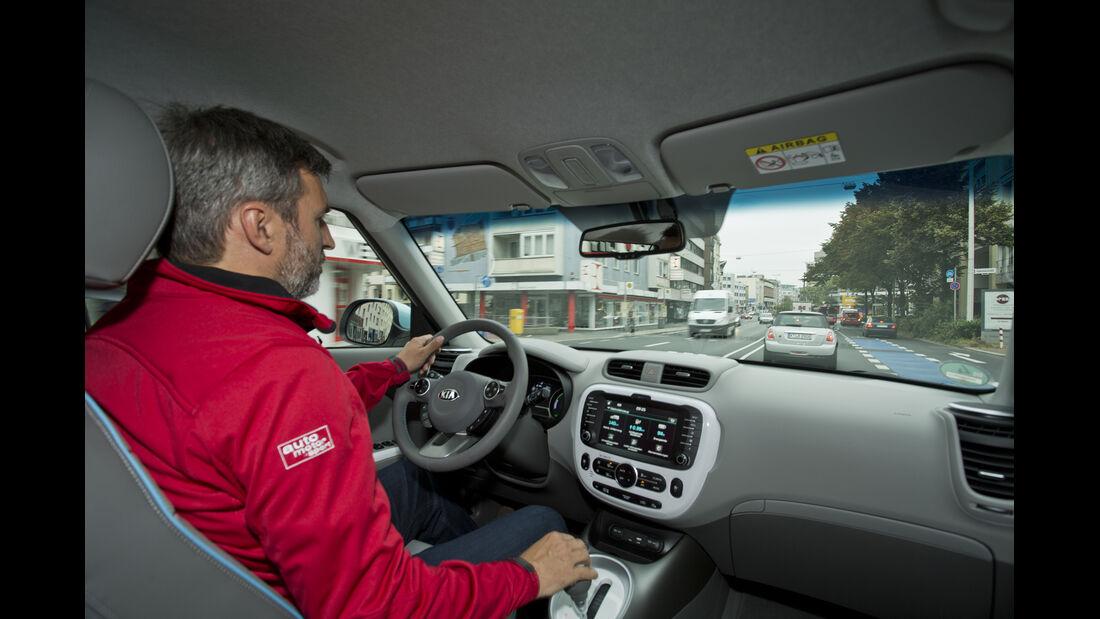 Kia Soul EV, ams, Fahrbericht, Cockpit