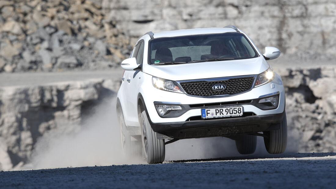 Kia Sportage 2.0 CRDi AWD, Frontansicht