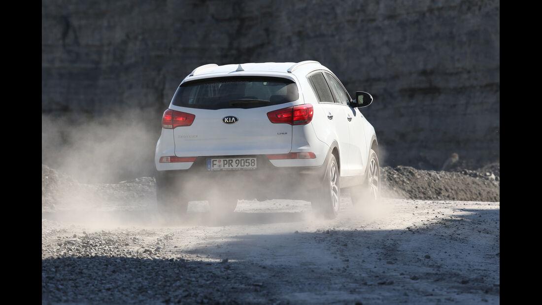 Kia Sportage 2.0 CRDi AWD, Heckansicht