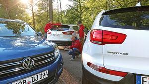 Kia Sportage, Nissan Qashqai, VW Tiguan, Test, Redakteure