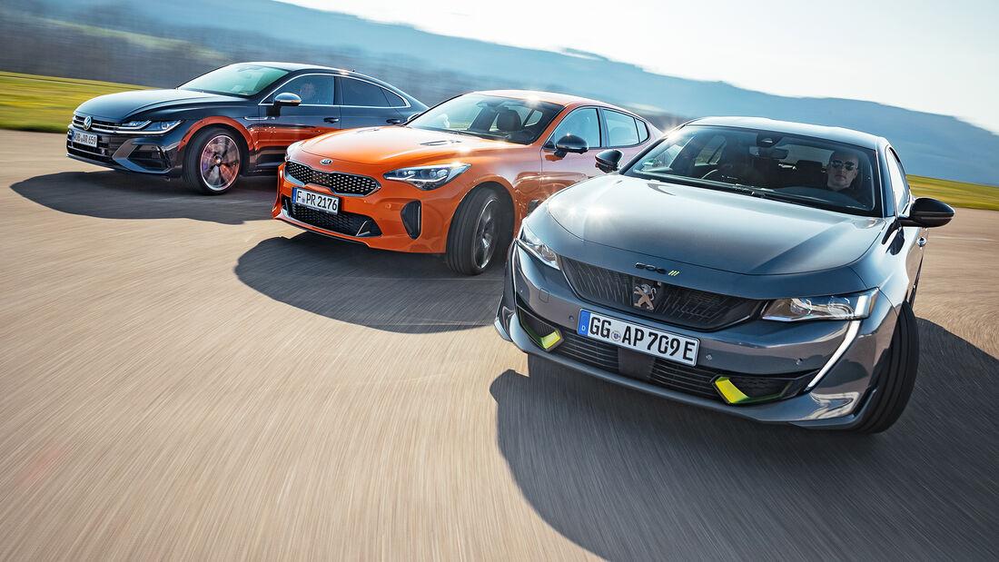 Kia Stinger GT, Peugeot 508 PSE, VW Arteon R, Exterieur
