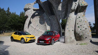 Kia Stonic 1.0 T-GDI, Ford Fiesta Active 1.0 Ecoboost, Exterieur
