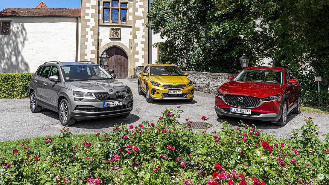 Kia XCeed, Mazda CX-30, Skoda Karoq, Exterieur