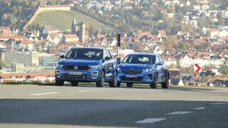 Kia Xceed 1.6 T-GDI, VW T-Roc 2.0 TSI 4 Motion, Exterieur