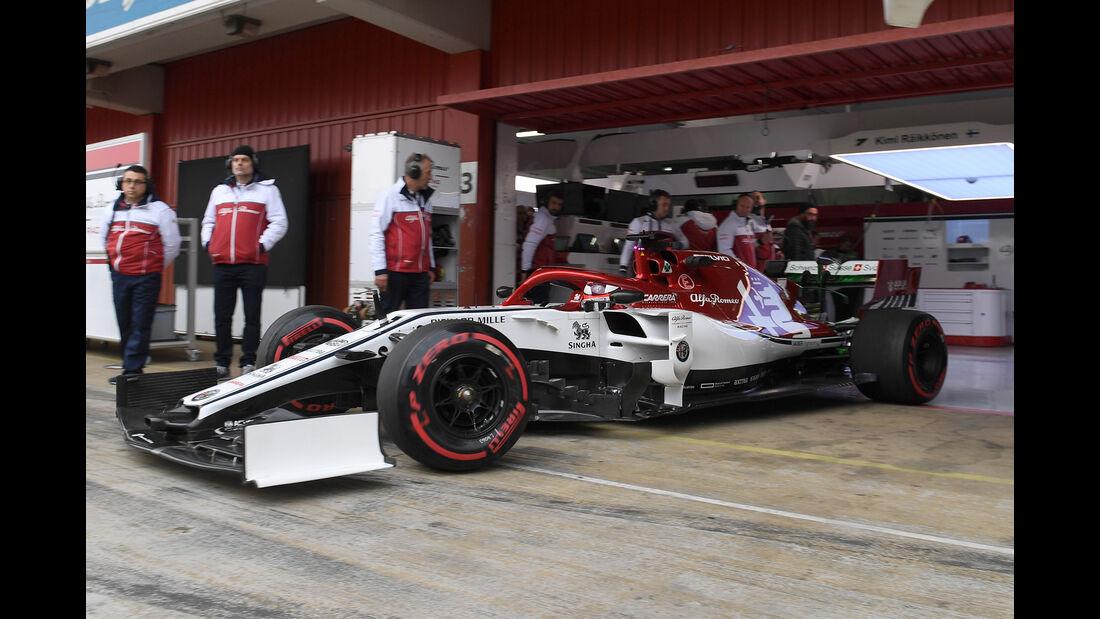 Kimi Räikkönen - Alfa Romeo - Barcelona - F1-Test - 20. Februar 2019