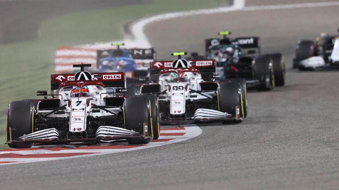 Kimi Räikkönen - Alfa Romeo - Formel 1 - GP Bahrain 2021 - Rennen