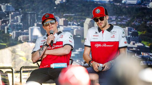Kimi Räikkönen - Antonio Giovinazzi - Alfa Romeo - Formel 1 - GP Australien 2020