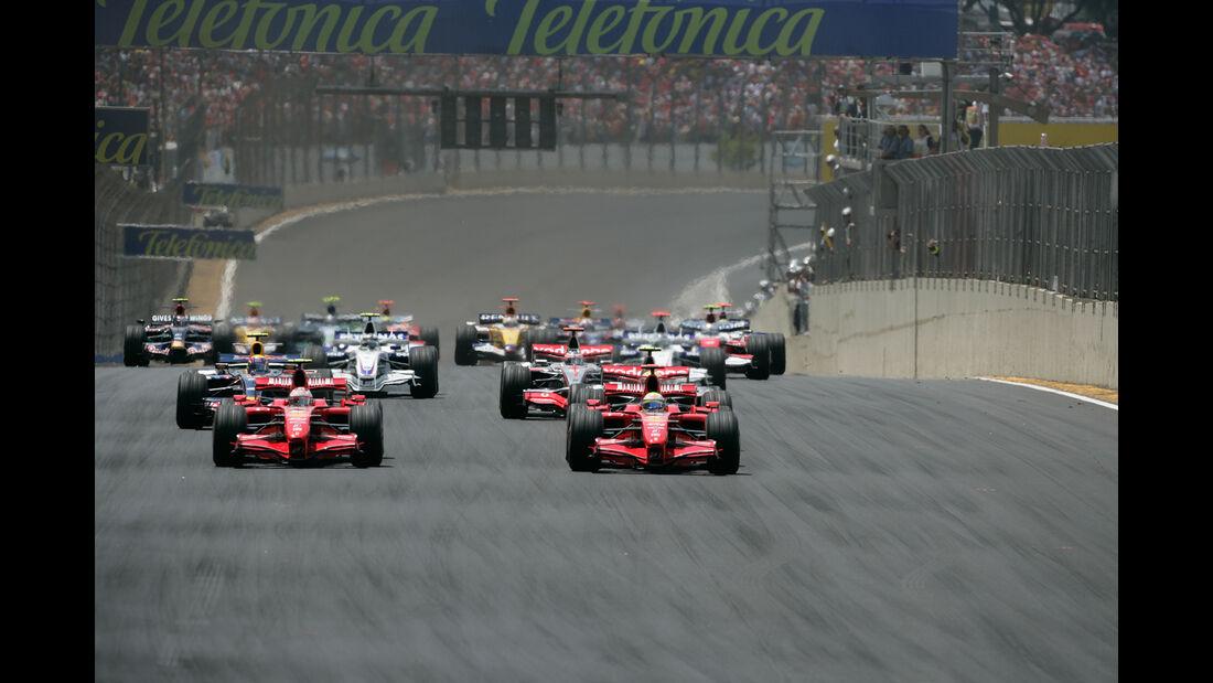 Kimi Räikkönen - Felipe Massa - Ferrari - GP Brasilien 2007